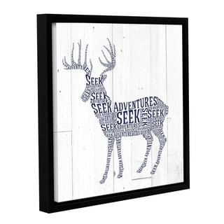 Aubree Perrenoud's 'Deer Shiplap' Gallery Wrapped Floater-framed Canvas