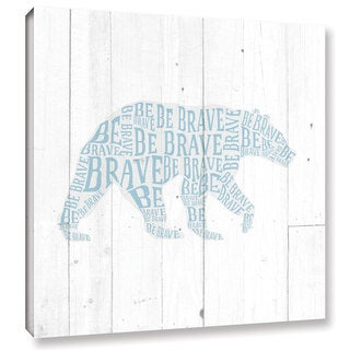 Aubree Perrenoud's 'Bear Shiplap' Gallery Wrapped Canvas