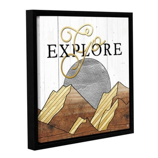 Aubree Perrenoud's 'Go Explore' Gallery Wrapped Floater-framed Canvas