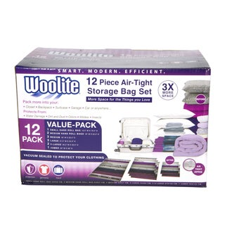 Simplify Woolite 12-piece Airtight Vacuum Storage Bag Multi-pack