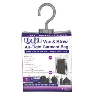 Woolite White Nylon Air-Tight Hanging Vacuum Storage Bag