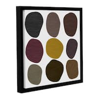 Chandler CChase's 'Circle XIV' Gallery Wrapped Floater-framed Canvas - multi