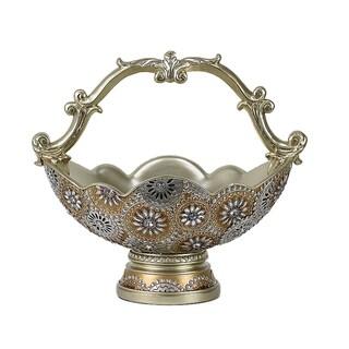 D'Lusso Designs Venus Gold-tone Polyresin Design Basket