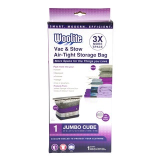 Woolite White Nylon Air-Tight Jumbo Cube Vacuum Storage Bags