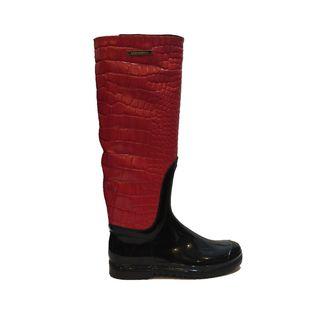 Dolce & Gabbana Red Rain Boots