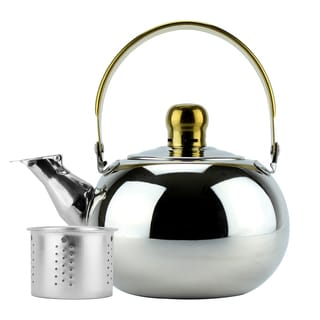 Stainless Steel 1-liter Whistling Tea Kettle