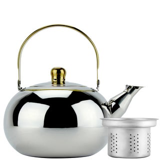 Mirror Finish Stainless Steel 3-liter Whistling Tea Kettle