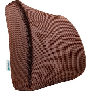 PharMeDoc Lumbar Pillow Support Cushion Lower Back Sciatica and Tailbone Pain Relief Orthopedic Contour Foam Wedge (Brown)
