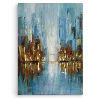 Wexford Home Nan 'City Lights' Wrapped Canvas Art