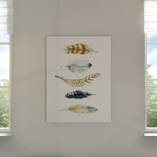 Wexford Home Carol Robinson 'Feather Collection II' Giclee on Gallery-wrapped Canvas Wall Art