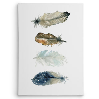 Wexford Home Carol Robinson 'Feather Collection I' Gallery-wrapped Canvas Wall Art