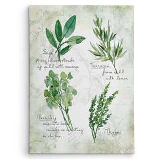 Carol Robinson 'Fresh Herbs II' Gallery Wrapped Canvas Wall Art