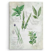 Wexford Home 'Fresh Herbs I' Gallery-wrapped Canvas Wall Art