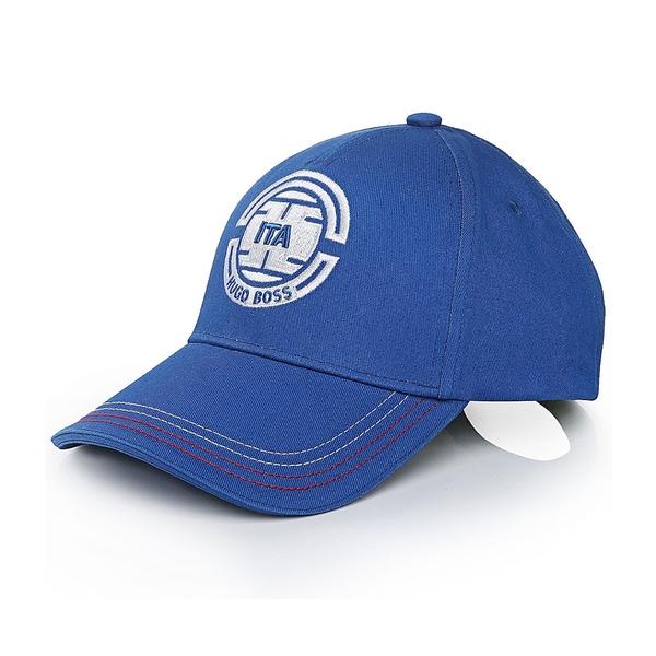 aab7568a Shop Hugo Boss Italy Blue Cotton Baseball Team Cap - Free Shipping ...