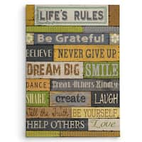 Wexford Home Conrad Knutsen 'Life's Rules' Gallery-wrapped Canvas Wall Art