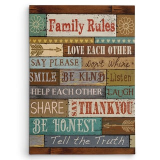 Wexford Home Conrad Knutsen 'Family Rules' Canvas
