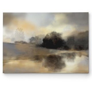 Nan 'Misty Pond' Gallery Wrapped Canvas Wall Art