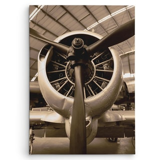Wexford Home 'WW II Fighter' Brown Canvas Wall Art