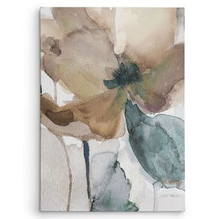 Wexford Home Carol Robinson's 'Watercolor Poppy I' Multicolored Canvas Artwork|https://ak1.ostkcdn.com/images/products/13686232/P20349577.jpg?impolicy=medium