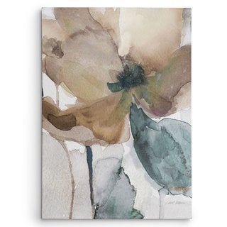 Wexford Home Carol Robinson's 'Watercolor Poppy I' Multicolored Canvas Artwork