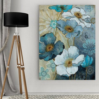 Wexford Home Carol Robinson 'Blue Denim Garden I' Canvas Wall Art