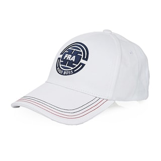Hugo Boss White Cotton France Baseball Cap