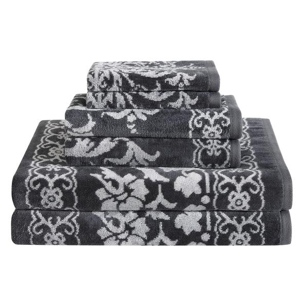 Damask 6 Piece Towel Set