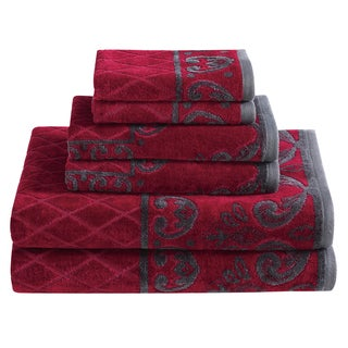 Cotton Velour 6 Piece Towel Set