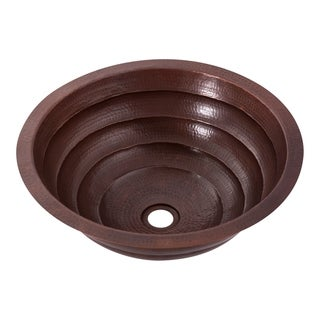 Novatto Matamoras Tiered Copper Bathroom Sink, Antique