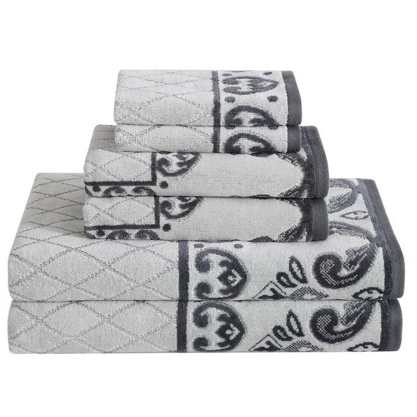 Cotton Velour 6 Piece Towel Set