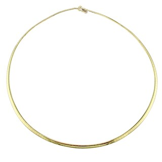 Miadora Signature Collection 18k Yellow Gold Omega Necklace