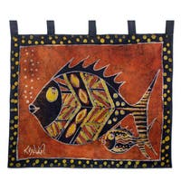 Handcrafted Cotton 'Nye Ke Bi' Batik Wall Hanging (Ghana)