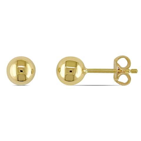 Miadora 18k Polished Yellow Gold Children's Ball Stud Earrings