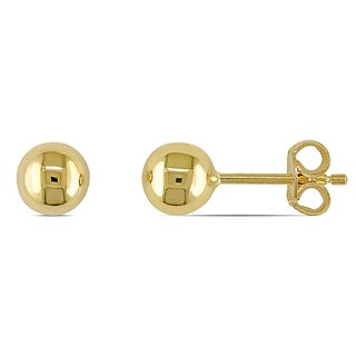 Miadora 18k Polished Yellow Gold Children's Ball Stud Earrings