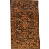 Herat Oriental Afghan Hand-knotted Tribal Balouchi Wool Rug (3'9 x 6'4)