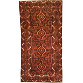 Herat Oriental Afghan Hand-knotted Tribal Balouchi Wool Rug (3'5 x 6'6)