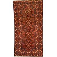 Handmade Herat Oriental Afghan Tribal Balouchi Wool Rug (Afghanistan) - 3'5 x 6'6