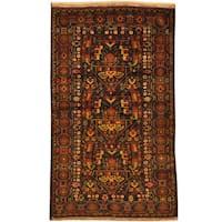 Handmade Herat Oriental Afghan Tribal Balouchi Wool Rug - 3'9 x 6'4 (Afghanistan)