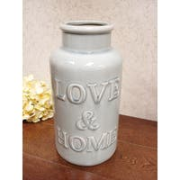 D'Lusso Designs Love and Home Grey Decorative Vase