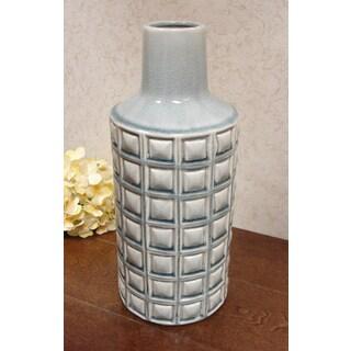 D'Lusso Designs 13-inch Pastel Weave Vase