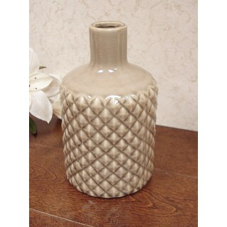 D'Lusso Designs Pastel Brown Ceramic 8-inch Vase