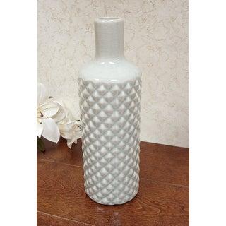 D'Lusso Designs Grey Ceramic 11-inch Pastel Vase