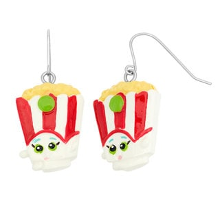 Shopkins Children's Hand Painted Poppy Corn Fish Hook Dangle Earrings