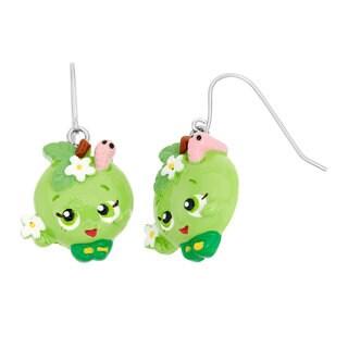 Shopkins Children's Poly Apple Blossom Fish Hook Dangle Earrings