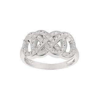 Fine Silver-plated Brass Swarovski Element Women's Infinity Ring