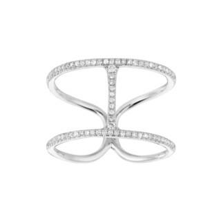 10k White Gold 1/4ct TDW Diamond 'H' Ring (G-H, I1-I2)