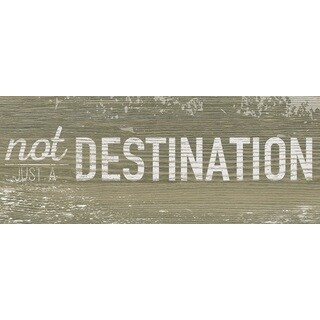 Hobbitholeco 'Not Destination' 8 x 20-inch Gallery Wrapped Canvas Art