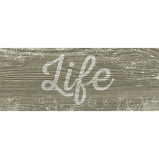 Hobbitholeco 'Life' 8-inch x 20-inch Gallery-wrapped Canvas
