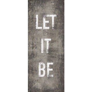 Hobbitholeco 'Let it Be' 8x20-inch Wrapped Canvas Wall Art