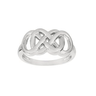 Women's Fine Silverplated Brass Double Infinity Ring